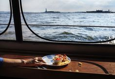 New Yorker  Tables for Two: Grand Banks and the Water Table Photograph by Lauren Lancaster.
