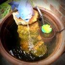 Easiest DIY Water Garden & Fountain for Your Backyard! Water Feature - www.yourcreativebone.com