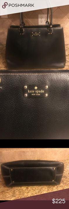 Kate spade black large leather bag 100% Authentic in perfect condition big bag kate spade Bags Totes