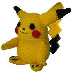 Instrucciones paso a paso gratuito para tejer al crochet (ganchillo) a Pikachu de los Pokemon Amigurumi Patterns, Amigurumi Doll, Crochet Patterns, Diy Crochet, Crochet Crafts, Pikachu Crochet, Pokemon Go, Spiderman, Snoopy