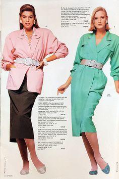 Cindy Crawford in the Spiegel Catalog Spring/Summer 1987 Retro Fashion 80s, 1987 Fashion, Vintage Fashion, Estilo Gigi Hadid, Fashion Designer, Fashion Catalogue, Cindy Crawford, Vogue, Looks Vintage