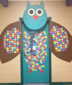 Owl classroom door!
