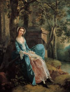 """""""Portrait of a Woman (possibly of the Lloyd Family)"""" (c. 1750) by Thomas Gainsborough"""