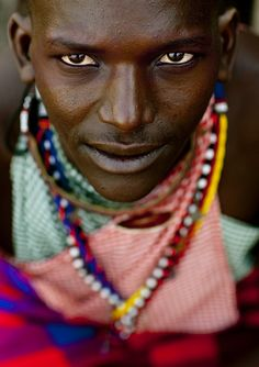 African tribal male. You can feel the energy reading right through his eyes.