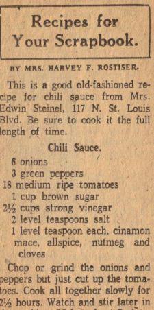 Chili Sauce Recipe Clipping, might be good Retro Recipes, Old Recipes, Canning Recipes, Vintage Recipes, Chili Recipes, Sauce Recipes, Canned Chili Sauce Recipe, Chutneys, Sauce Dips
