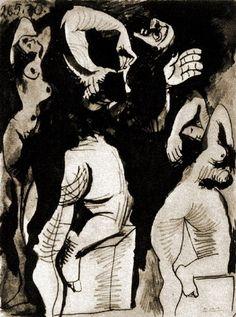 Trois nus debout 1970, Pablo Picasso
