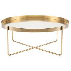 DwellStudio Vox Coffee Table in Gold | DwellStudio