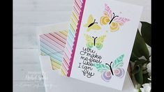 Stenciled Butterflies Card using our April 2018 Card Kit! - YouTube