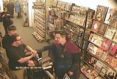 And then the glorious moment was over. | Benedict Cumberbatch Makes Surprise Comic Store Visit Dressed As Doctor Strange