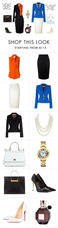 """""""Chic"""" by fleony on Polyvore featuring moda, Moschino, Alexander McQueen, Roland Mouret, Versace, Dolce&Gabbana, Chanel, Balenciaga, Tom Ford e Christian Louboutin"""