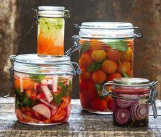 Creative Food, Pickles, Cucumber, Mason Jars, Vegetables, Pickle, Mason Jar, Vegetable Recipes, Zucchini