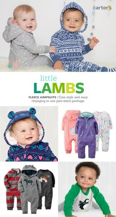 Cozy Fleece in one-piece. Now that's a one-hit wonder baby (and you) will love.