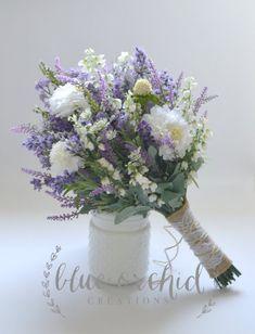 Purple Wedding Flowers Wildflower Bridal Bouquet - Rustic Bouquet, Lavender Wildflower Bouquet, Shabby Chic Bouquet, Bridal Bouquet, Boho Bouquet by blueorchidcreations on Etsy - Wildflower Bridal Bouquets, Purple Wedding Bouquets, Bridal Flowers, Wedding Colors, Lavender Bouquet, Bridesmaid Bouquets, Flower Bouquets, Bridesmaids, Hydrangea Bouquet