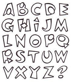 Calligraphy Fonts Alphabet, Hand Lettering Alphabet, Doodle Lettering, Creative Lettering, Graffiti Alphabet Styles, Graffiti Lettering, Tattoo Lettering Styles, Types Of Lettering, Writing Fonts
