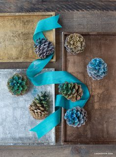 DIY Ombre Glitter Pinecone by MichaelsMakers Lia Griffith
