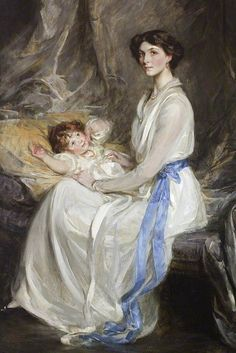 Lady Winifred Paget, Viscountess Ingestre, and her infant son, John George Charles Henry Alton Alexander Chetwynd-Talbot, , James Jebusa Shannon
