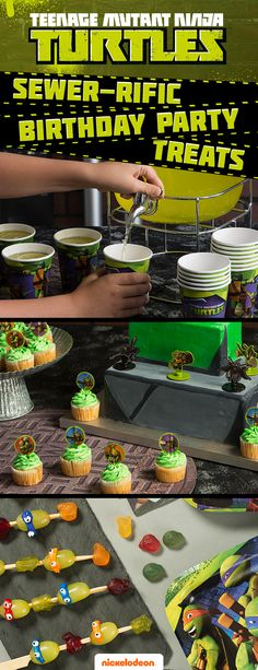 Cowabunga, dude! Add the ninja turtle touch to goodie bags, treats and décor, and give your kid a totally sewer-rific birthday bash. Celebrate in style with party décor and TMNT party treat ideas from all your favorite Nickelodeon shows at Walmart.