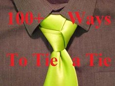 Animated - How to Tie a Necktie - Trinity Knot - How to Tie a Tie - YouTube