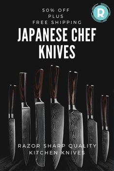 Make your life easier in the kitchen with a knife to match any cutting job. You'll always have the perfect knife for the occasion.Razor sharp bladeCuts through ingredients with easeStainless steel craftsmanshipHigh quality. Chef Knife Set, Knife Sets, Cool Knives, Knives And Swords, Japanese Chef, Utility Knife, Natural Home Decor, Kitchen Hacks, Kitchen Things