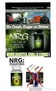 Know any truck drivers who need energy drinks to stay awake during their route? NRG - a new healthier alternative. Www.iasotea.com/4128051