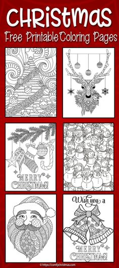 Download Free Printable Christmas Coloring Pages for Adults and Kids! You'll find plenty of Unique Christmas Coloring pages that are completely FREE! We are always adding more and more coloring pages to this page! So go ahead find your colored markers and download your Christmas themed free coloring page printables.