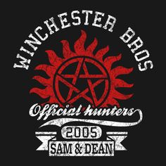 Winchester Bros Official Hunters ~ Supernatural design on TeePublic