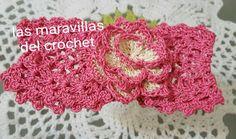 Diadema,cinturón,cintillo en crochet (ganchillo )