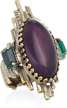 EMILIO PUCCI Amethyst and Glass Ring
