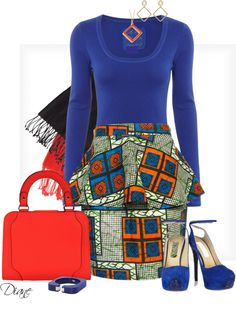 """African Print"" by diane-hansen on Polyvore ~Latest African Fashion, African women dresses, African Prints, African clothing jackets, skirts, short dresses, African men's fashion, children's fashion, African bags, African shoes ~DKK"