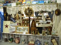Just one room where you can find antiques, gift baskets, soy candles and home decor.
