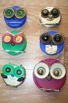 Whooo Loves Junk can lids