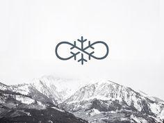 Infinite Snow Infinite Logo, Fantasy Logo, Visual Identity, Logo Inspiration, Typo, Fonts, Snow, Graphics, Design