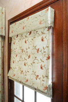 Valance over flat roman shade