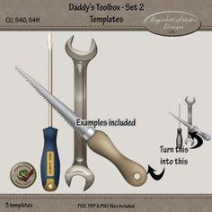 Daddys Toolbox Set 2 Templates