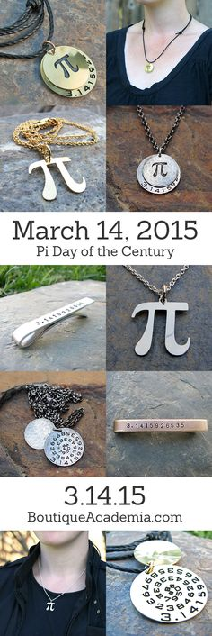 Pi jewelry for the Pi Day of the century!