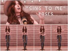 Sing to Me poses 5 poses total The Sims 4 Pose in game + all in one option place the teleporter in the middle of the microphone