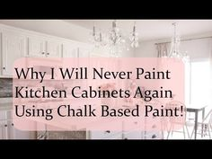 My better alternative to chalk paint yields a nicer result with less effort and MUCH less expense. Here I detail why I don't use chalk paint on furniture. Chalk Paint Kitchen Cabinets, Kitchen Paint, Painting Cabinets, Painting On Wood, Painting Tips, Kitchen Reno, Kitchen Tips, Diy Kitchen, Chalk Paint Furniture