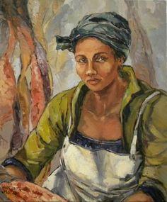Aviva Maree, Felien die visvlekker Art Faces, Face Art, Black Lady, South African Artists, Art Things, Famous Artists, Arts And Crafts, Portraits, Paintings