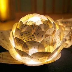 centerpiece sheet music lamp