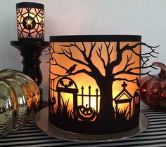 Spooky Forest Halloween Luminary by Rob Bob. Make It Now in Cricut Design Space cricut halloween ideas Halloween Paper Crafts, Halloween Tags, Diy Halloween Decorations, Holidays Halloween, Fall Crafts, Cricut Halloween Cards, Halloween Ideas, Halloween Design, Halloween 2019
