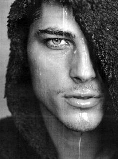 Male Model Atesh Salih, Turkish father, German mother, face of Georgio Armani for men.