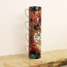 Image of Tropical Dusk Stacking Mug Set