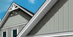 Mix regular siding with board & batten siding