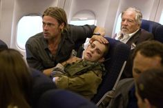 Still of Brad Pitt and Daniella Kertesz in World War Z (2013)