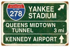 Vintage-Retro Yankee Stadium Tin Sign