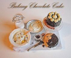 """Выпечка шоколадный торт """" кукольный дом миниатюра 1.12 й шкале объявлений"""