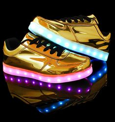 Mirror Fashion Unisex LED Light Shoes USB Charging Luminous Sports Shoes Men's and Women's Sneakers Shoes
