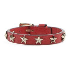 REDValentino Bracelet With Stars (890 SEK) ❤ liked on Polyvore featuring jewelry, bracelets, red, star jewelry, buckle jewelry, red jewelry, nickel free jewelry and red valentino