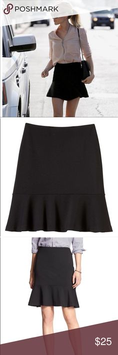 "NWT Banana Republic Fit & Flare Skirt Invisible back zip with hook-and-eye closure. Peplum hem.  Skirt length: Regular: 20 1/2"". 93% polyester, 7% spandex Banana Republic Skirts Midi"