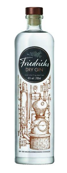 Gin von Friedrichs in der Liter Flasche mit Vol. Liquor Bottles, Vodka Bottle, Whisky, Gin Und Tonic, O Gin, Premium Gin, Gin Tasting, Strong Drinks, Wine Pairings